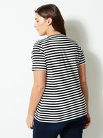 CURVE Saf Pamuklu Çizgili T-Shirt