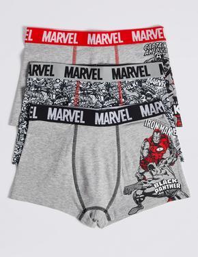 3 Parça Marvel Heroes Desenli Trunk Külot