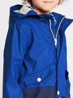 Mavi Fermuarlı Balıkçı Stili Yağmurluk