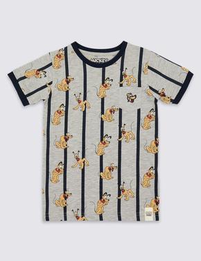Pluto Desenli Pamuklu T-Shirt