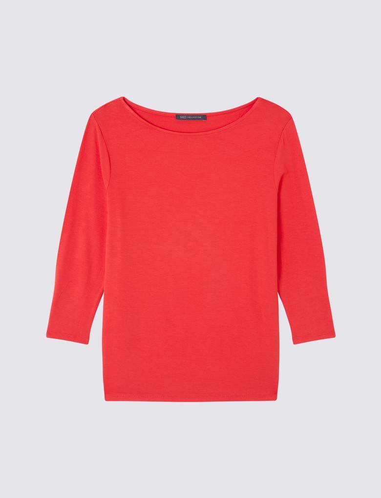 3/4 Kollu Jarse T-Shirt