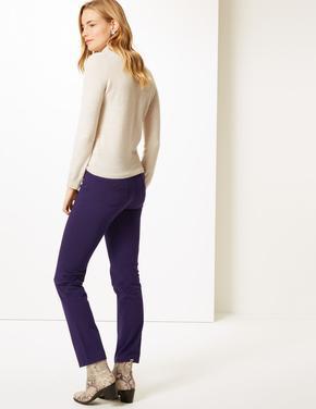 Pamuklu Streç Straight Leg Pantolon
