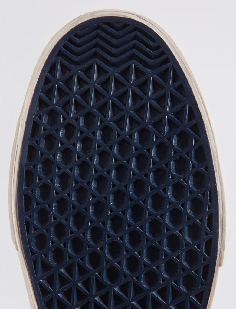 Lacivert Bağcıklı Kanvas Spor Ayakkabı