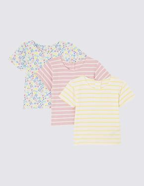 3'lü Organik Pamuklu T-Shirt Seti