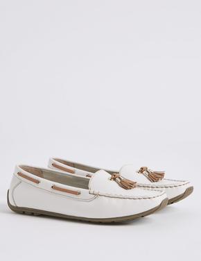 Geniş Kalıplı Deri Bot Ayakkabı