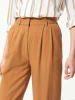 Kadın Bej Wide Leg Peg Pantolon