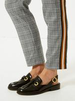 Siyah Ekose Slim Leg Pantolon