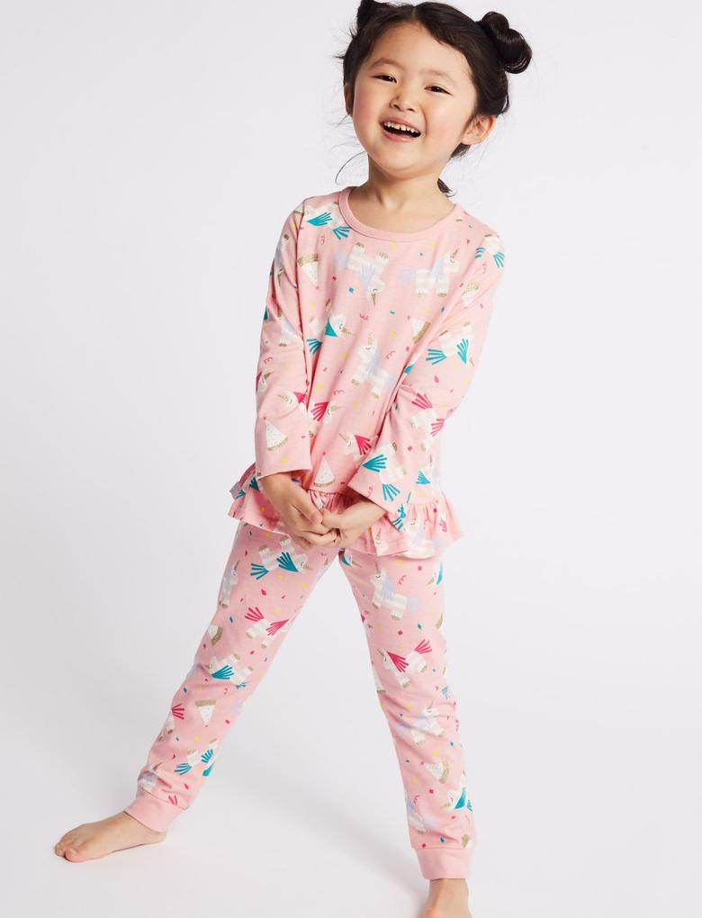2'li Saf Pamuklu Pijama Takımı