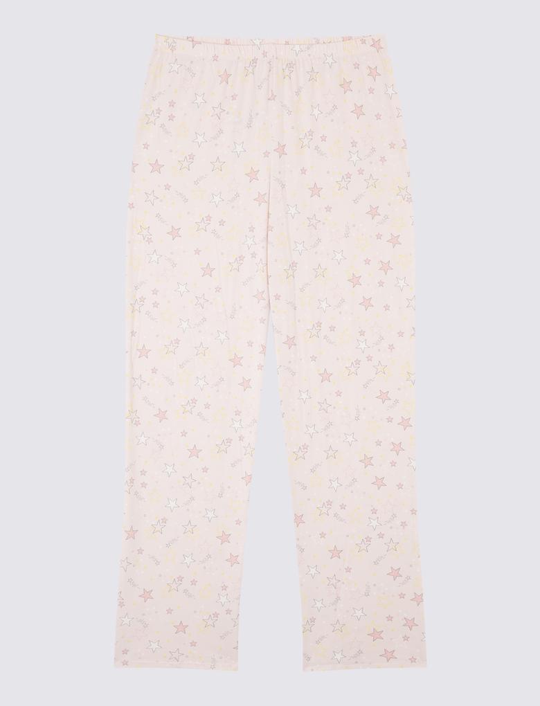 Yıldız Desenli Uzun Kollu Pijama Takımı