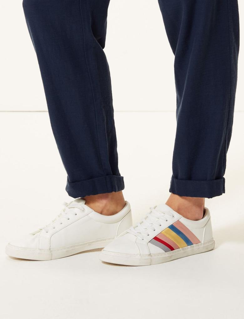 Wide Leg Peg Pantolon