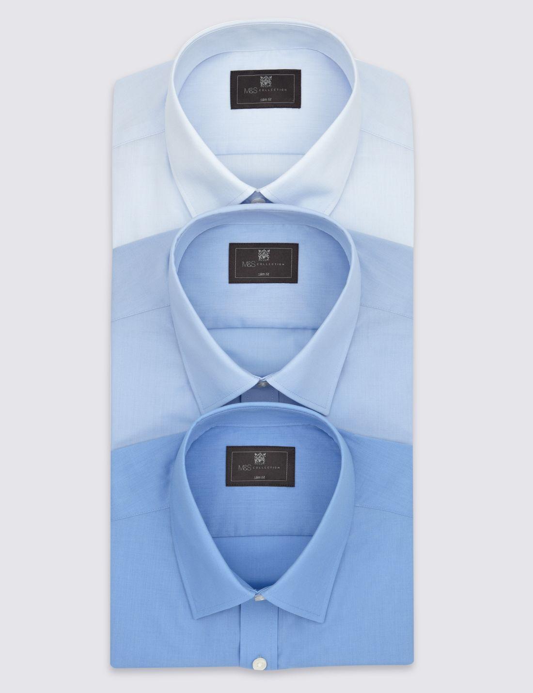 3`lü Cepli Slim Gömlek