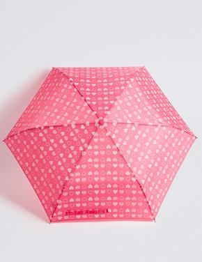 Kalp Desenli Kompakt Şemsiye (Stormwear™ Teknolojisi ile)