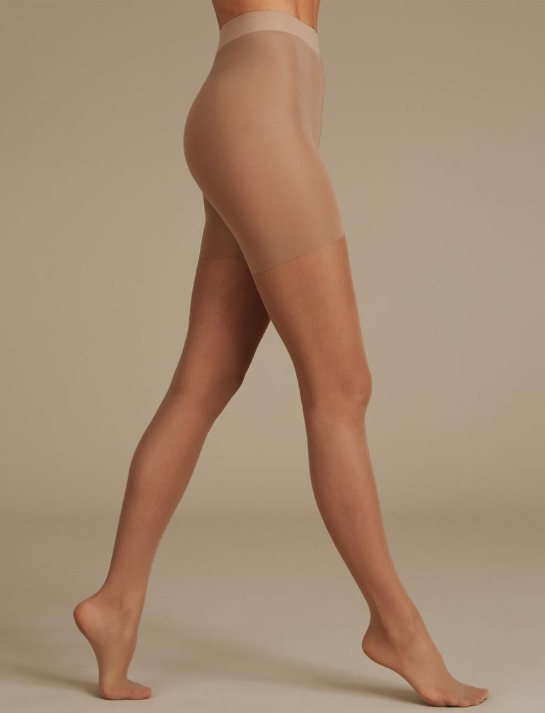 Kadın Kahverengi 15 Denye Toparlayıcı Özellikli Külotlu Çorap