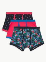 3'lü Pamuklu Cool & Fresh Trunk Boxer