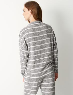 Uzun Kollu Çizgili Pijama Üstü