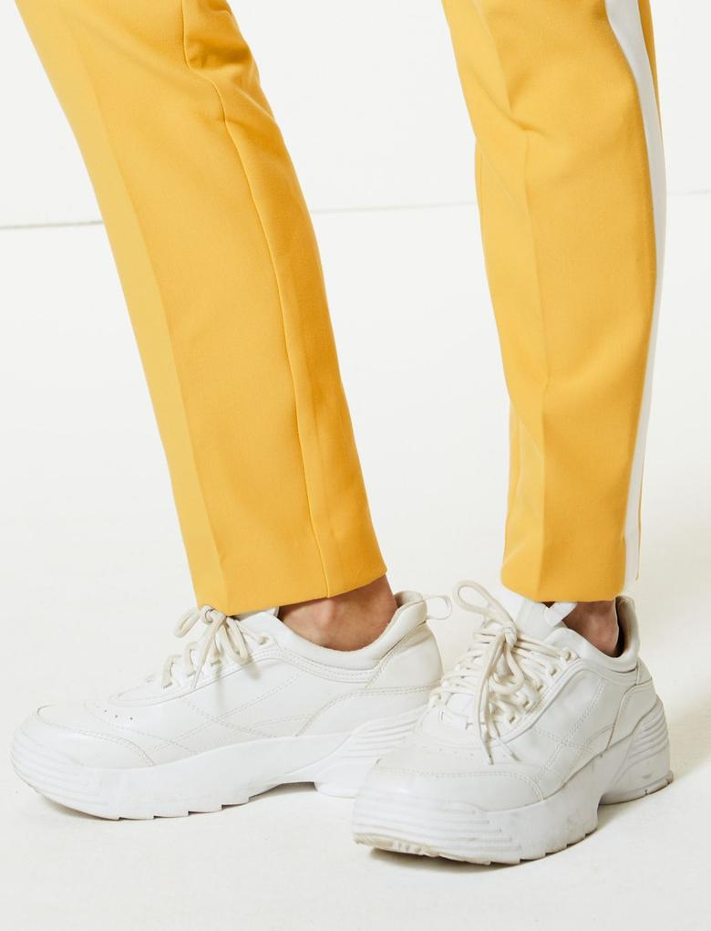 Yanları Çizgili Slim Leg Pantolon