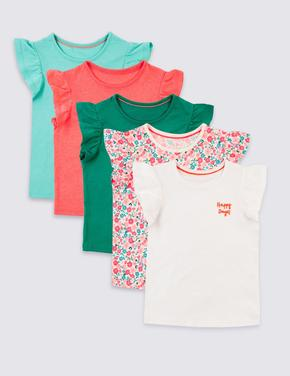 5 Parça Pamuklu T-Shirt Seti
