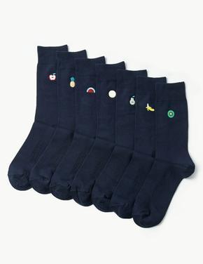 7'li Cool & Freshfeet İşlemeli Çorap Seti