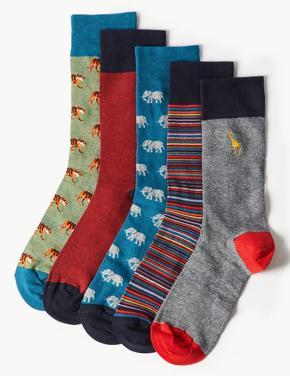 5'li Pamuklu Cool & Freshfeet Çorap Seti