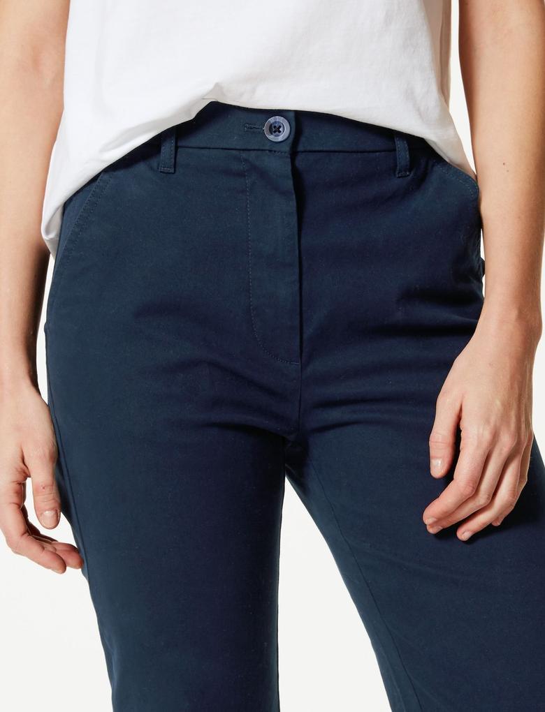 Straight Leg Bilek Hizasında Chino Pantolon