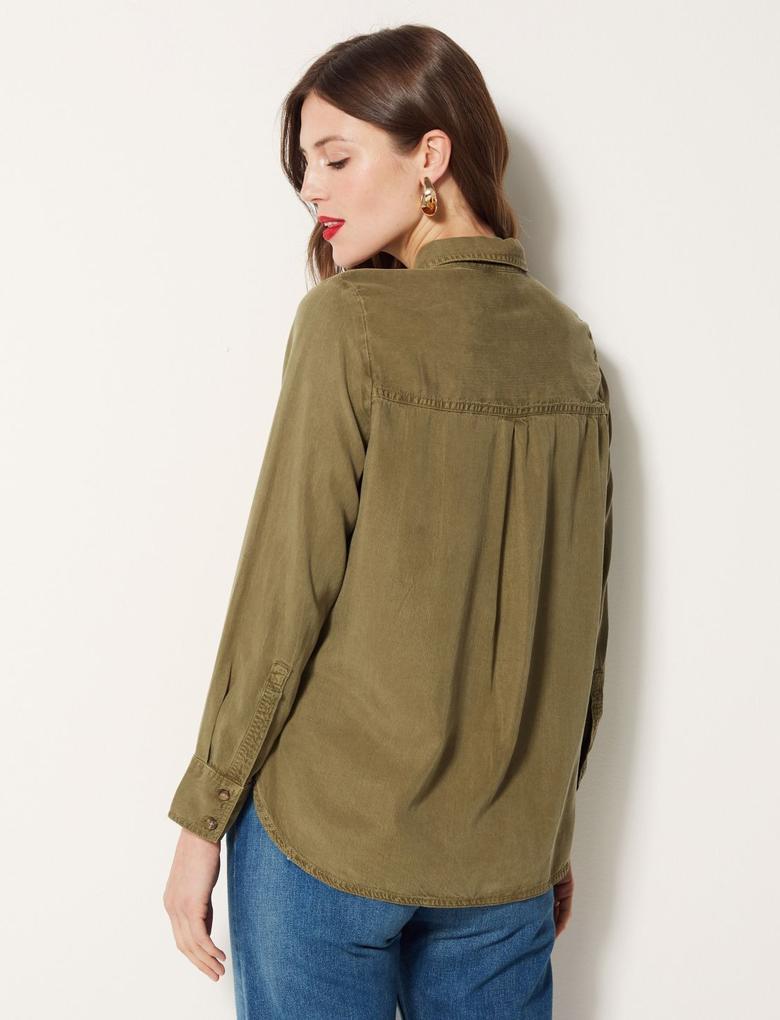 Yeşil Uzun Kollu Gömlek