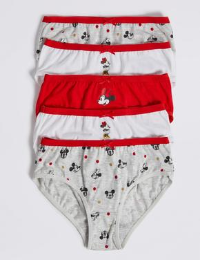 5'li Minnie Mouse™ Saf Pamuklu Brief Külot Seti