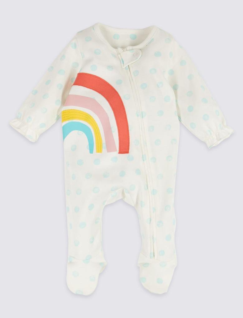 Multi Renk 2'li Saf Pamuklu Pijama Seti