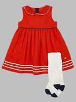 2 Parça Elbise ve Külotlu Çorap Takımı