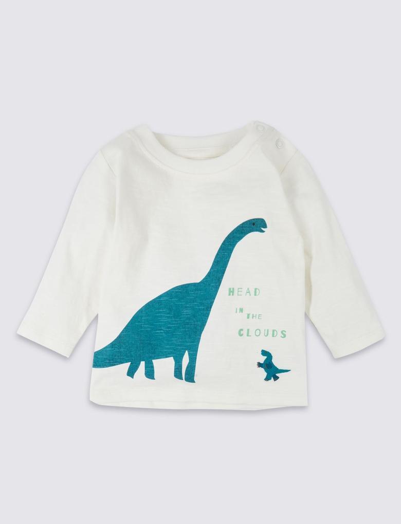 2 Parça Dinozor Desenli Üst ve Eşofman Altı Takımı