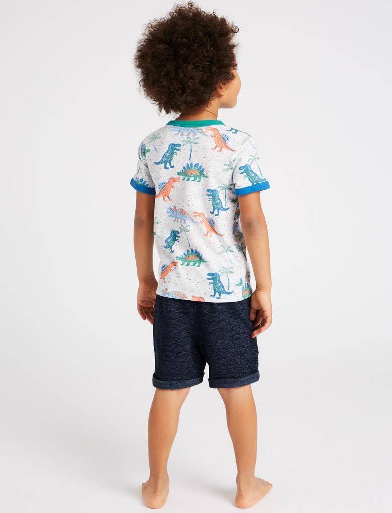 Erkek Çocuk Multi Renk 2 Parça Üst ve Şort Takımı