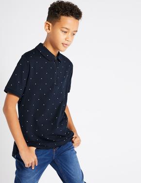 Pamuklu Streç Polo Yaka T-Shirt