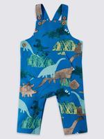 Mavi 2 Parça Dinozor Desenli Tulum ve Body Takımı