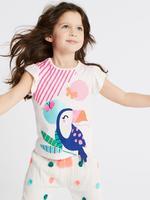5'li Tukan Kuşu Desenli T-Shirt Seti