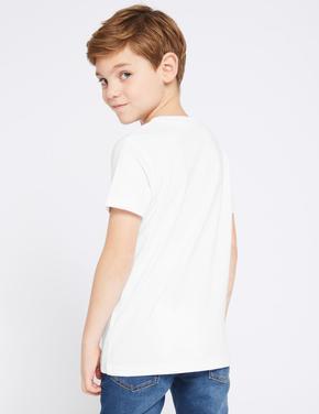Saf Pamuklu Brooklyn T-shirt