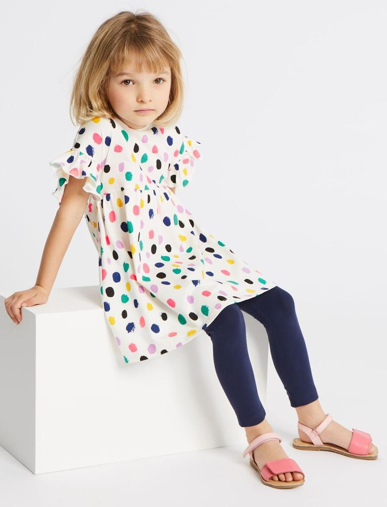 2'li Saf Pamuklu Elbise