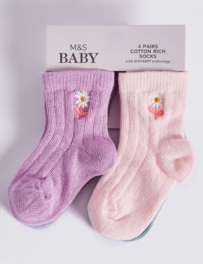 4 Çift Çorap (StaySoft Teknolojisi ile)