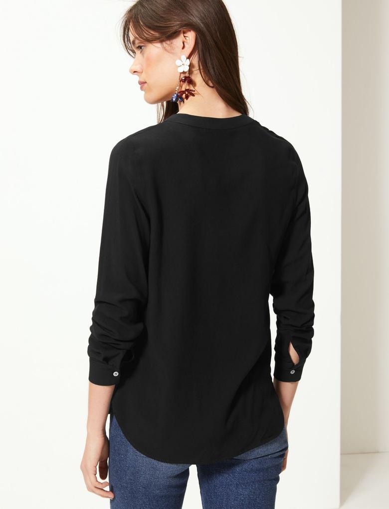 V Yaka Uzun Kollu Bluz
