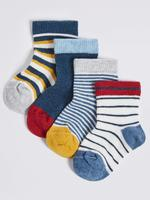 Multi Renk 4 Çift Çorap Seti (StaySoft Teknolojisi ile)