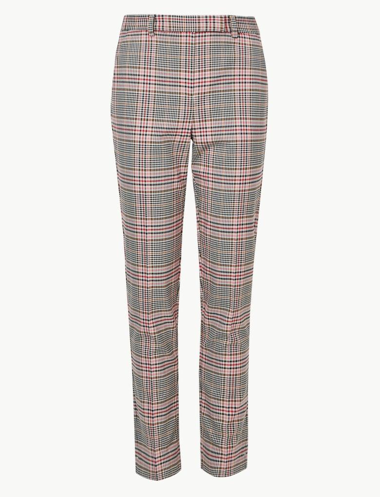 Slim Leg Ekose Pantolon