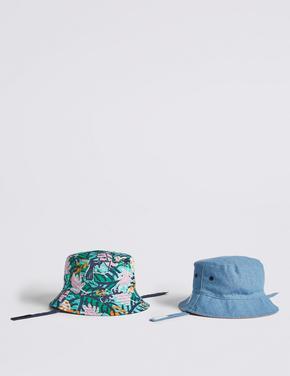2'li UPF50+ Korumalı Şapka