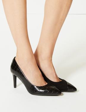 Ekstra Geniş Kalıplı Topuklu Stiletto Ayakkabı