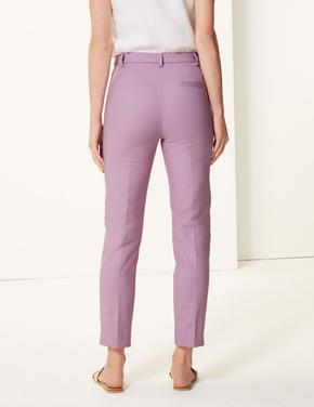 Kadın Pembe Pamuklu Slim 7/8 Pantolon