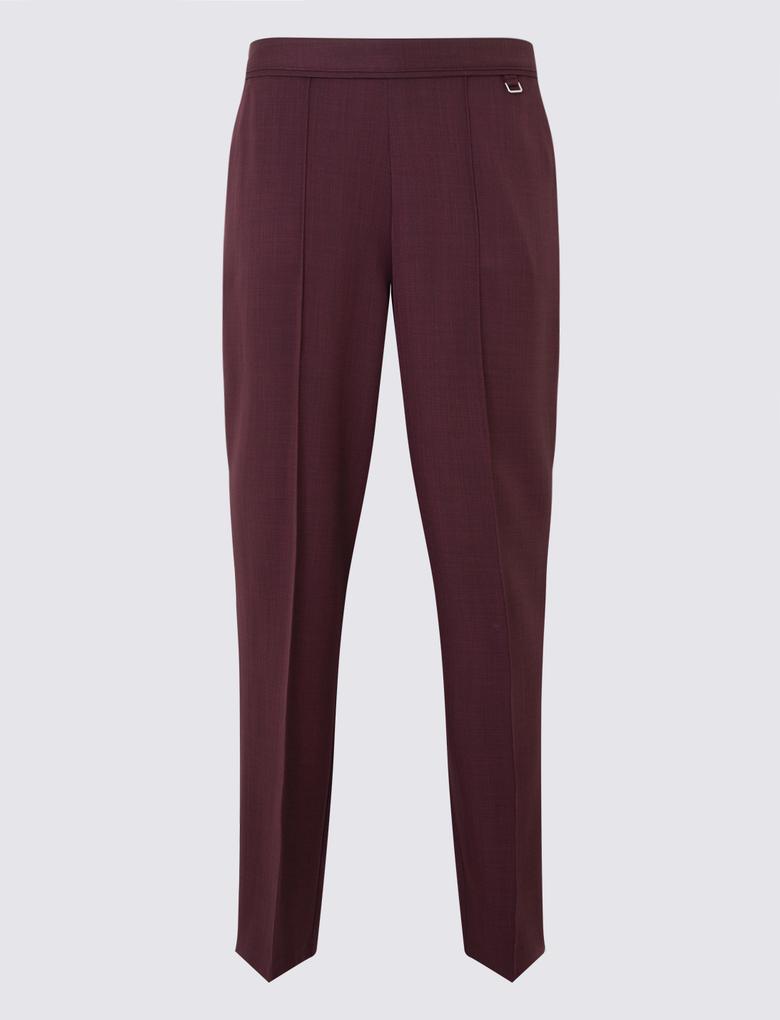 Kırmızı Straight Leg Klasik Pantolon