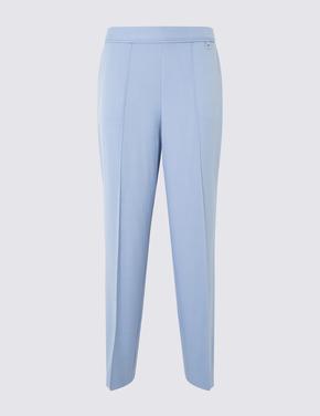 Kadın Mavi Straight Leg Klasik Pantolon