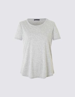 Gri Kısa Kollu T-Shirt
