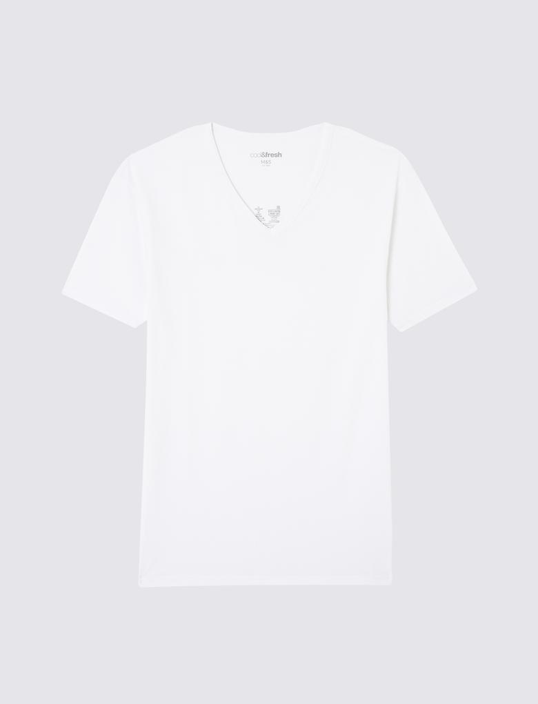 Erkek Beyaz 2'li Cool & Fresh™ Kısa Kollu Atlet Seti