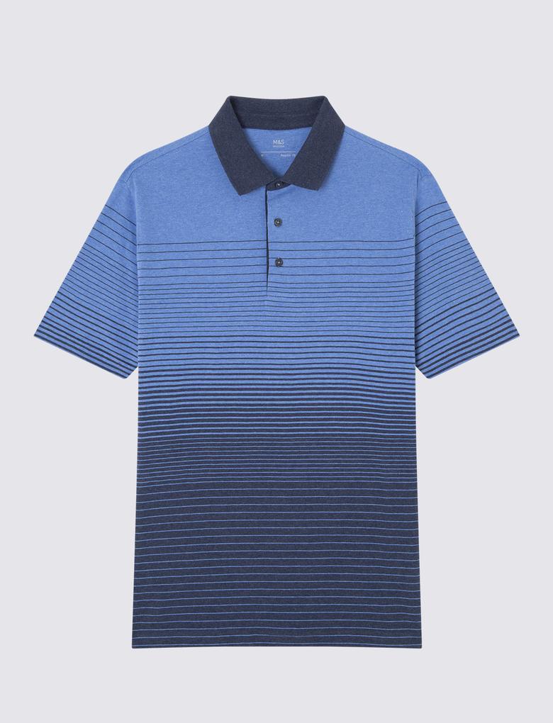 Lacivert Kısa Kollu Polo Yaka T-Shirt