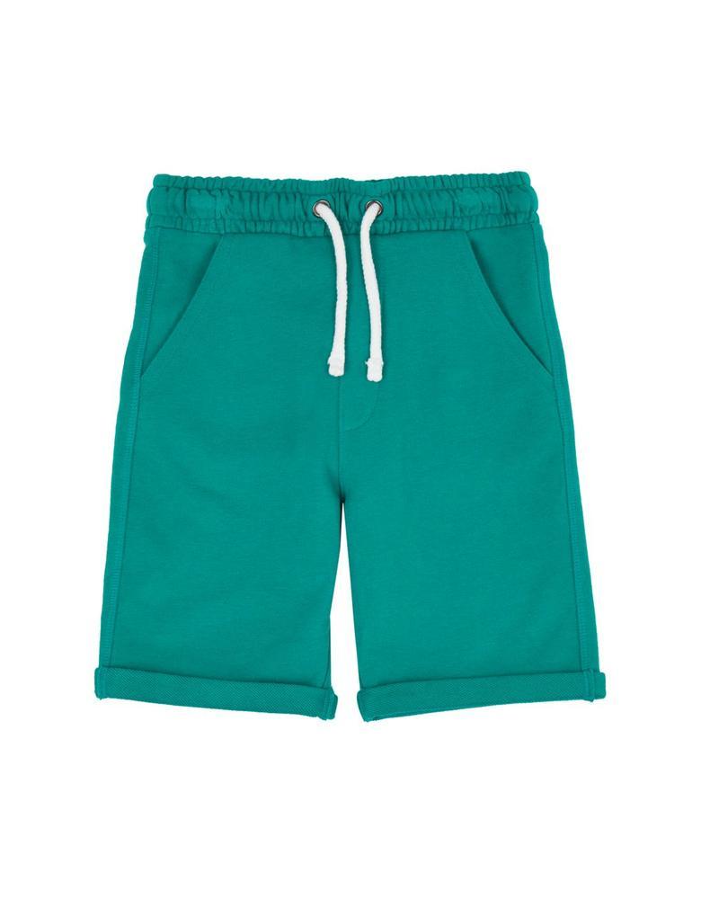 Erkek Çocuk Yeşil Pamuklu Jarse Şort