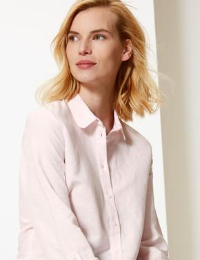 Düğme Detaylı Uzun Kollu Gömlek