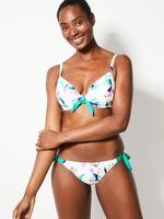 Kadın Beyaz Tukan Kuşu Desenli Hipster Bikini Altı